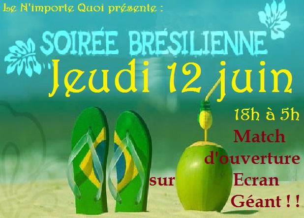 Soiree bresilenne vivre le match d 39 ouverture de la coupe - Match d ouverture coupe du monde 2014 ...