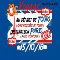 Sortie à Paris en car au départ de Tours gare routière .