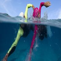 Natation en mer à Antibes