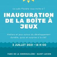 Inauguration de la Boite à Jeux
